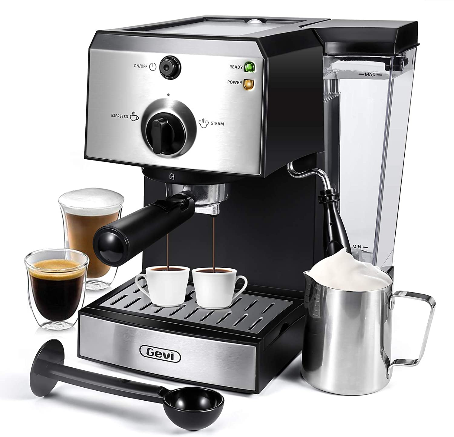 Coffee Maker with Foaming Milk