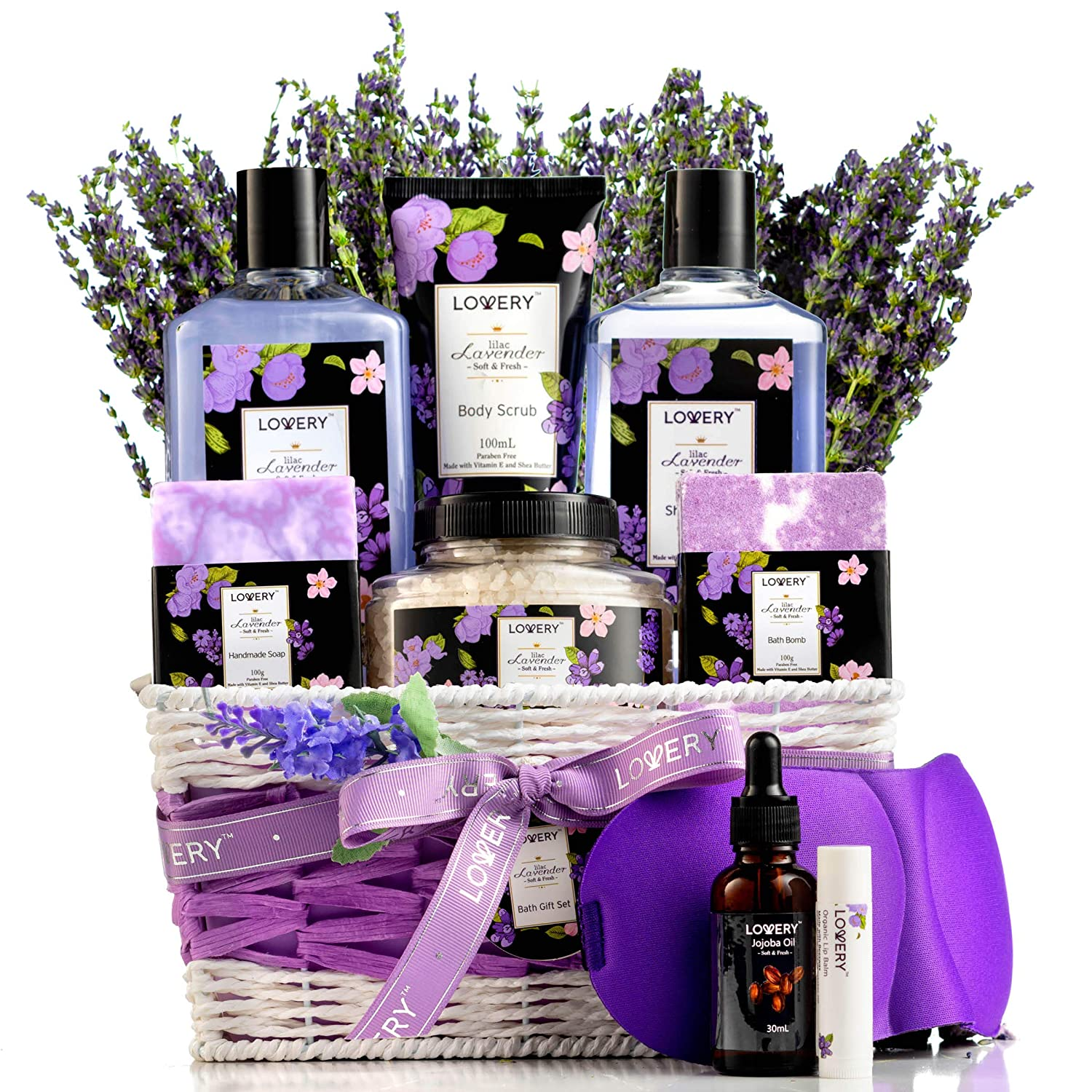 Lilac Spa Gift Basket For Women