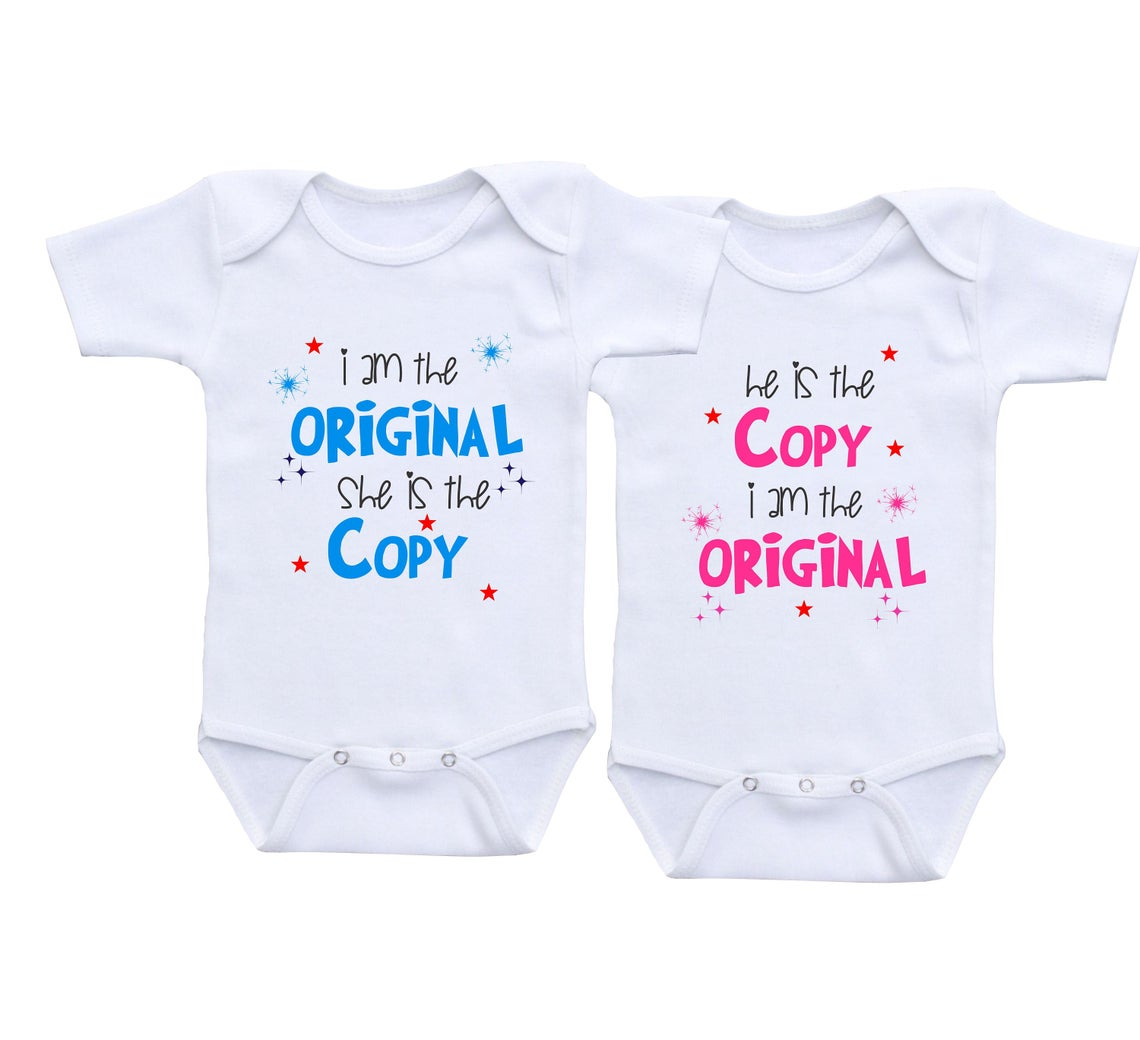 Twin outfits boy girl Twins baby gift