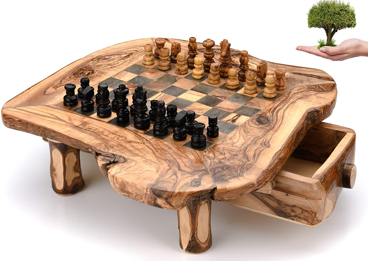 Handcrafted Olive Wood Chess Board