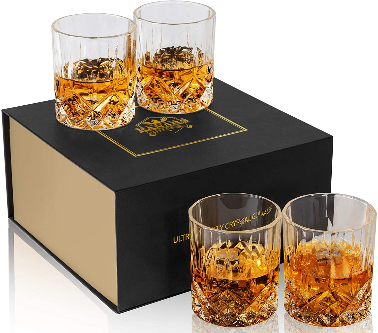 Whiskey Glasses with Luxury Box